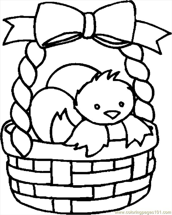Easter Basket 22 Coloring Page Free Holidays Coloring Pages