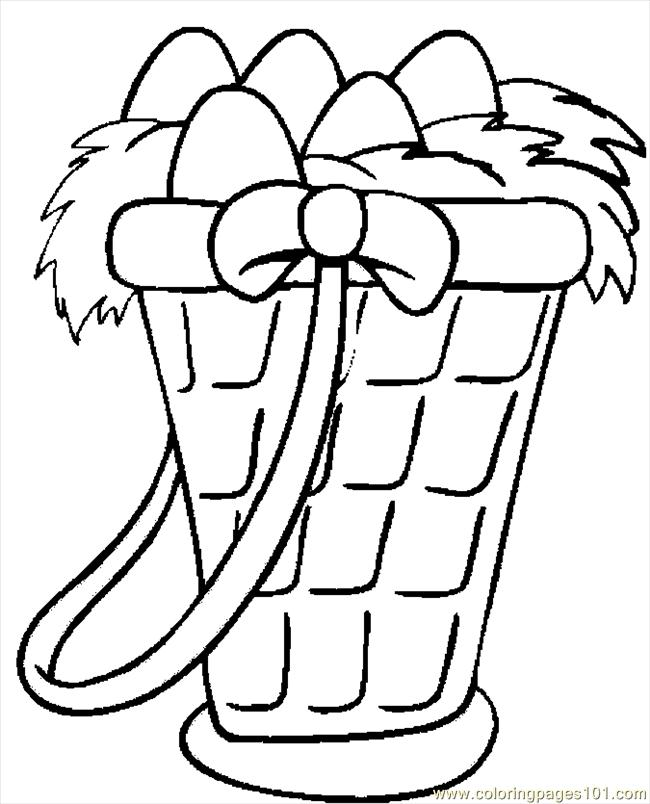 Easter Basket 31 Coloring Page