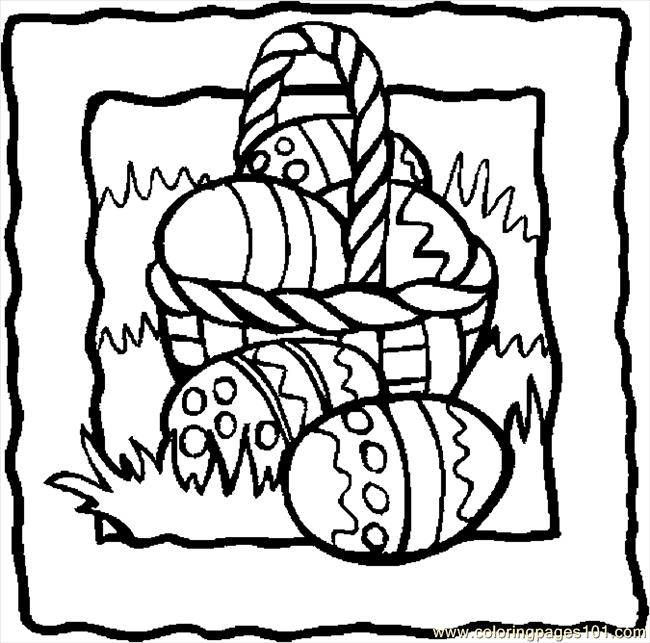 easter basket 38 coloring page