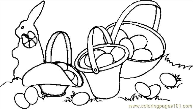 Easter Baskets 2 Coloring Page