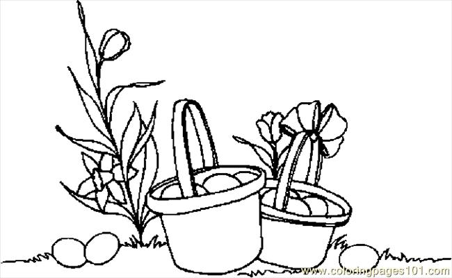 Easter Baskets 3 Coloring Page