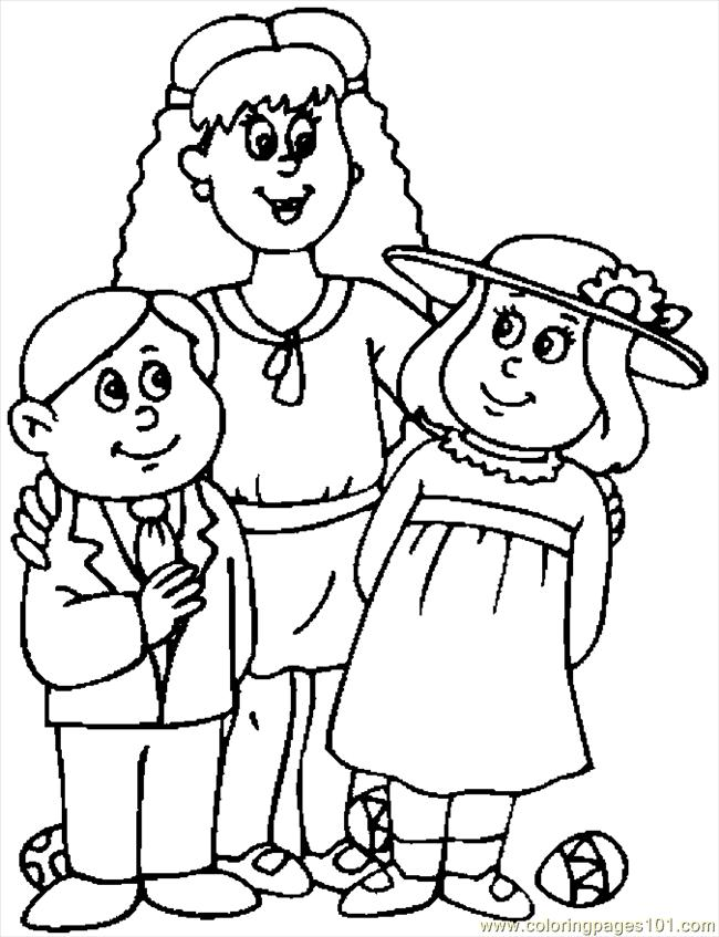 Easter Clothes Coloring Page Free Holidays Coloring