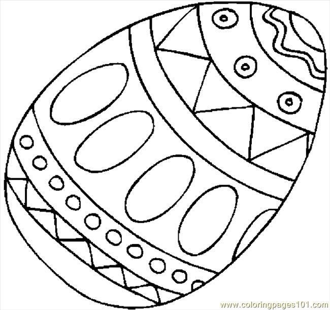 Easter Egg 09 Coloring Page - Free Holidays Coloring Pages ...