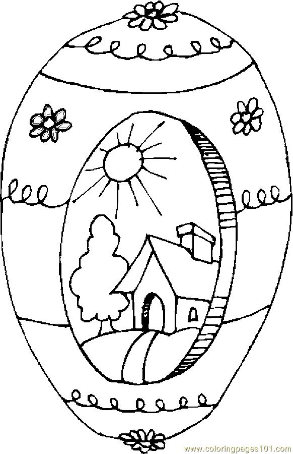 Easter Egg 16 Coloring Page Free