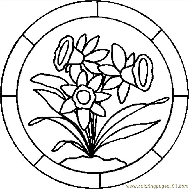 Easter Lily 7 Coloring Page Free
