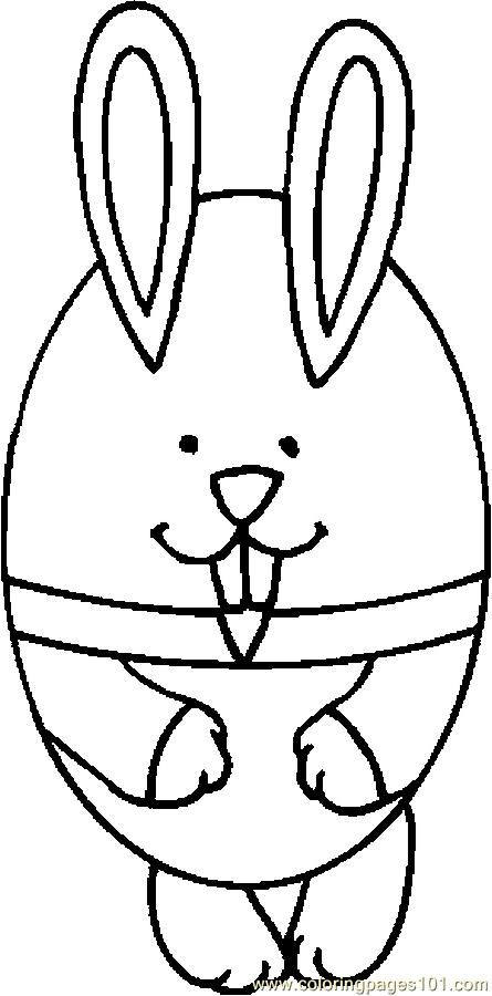 Egg   Bunny Coloring Page