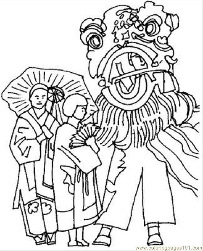 Inese New Year Coloring Pages Coloring Page