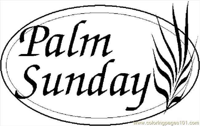 palm sunday 2 coloring page