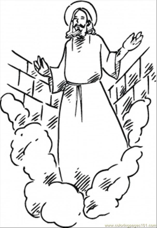Resurrection Of Christ Coloring Page