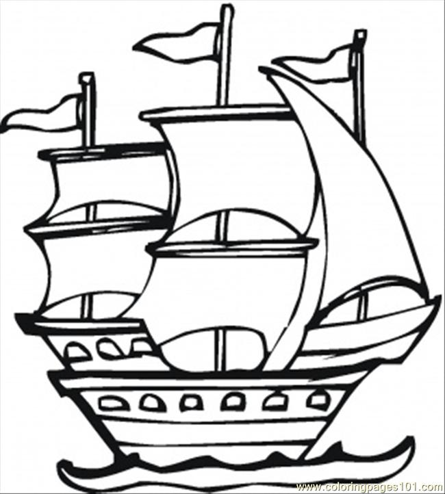 Spanish Expedition Coloring Page