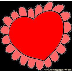Valentine Coloring Page 01