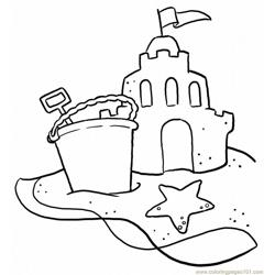 Beach-scene coloring page