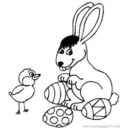 Bunny With Eggs 5