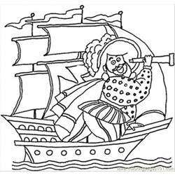 Columbus Is Looking For India Coloring Sheet