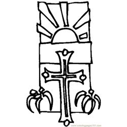 Cross & Lilies 6 coloring page