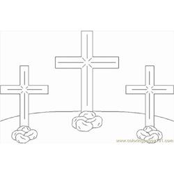 Crosses1 Free Coloring Page for Kids