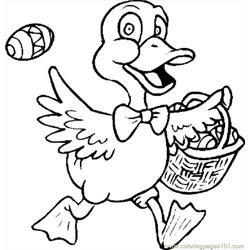 Duck & Basket coloring page