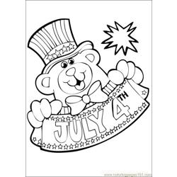 Fourthofjuly 10 coloring page