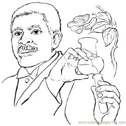 Georgewashingtoncarver Free Coloring Page for Kids