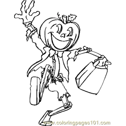 Halloween 68 Free Coloring Page for Kids
