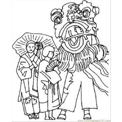 Inese New Year Coloring Pages