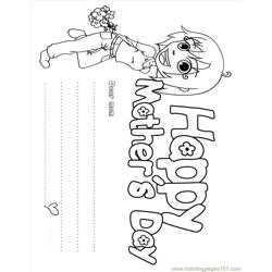 Mothers Day Coloring Page Fdh