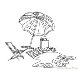 Towel_hard Free Coloring Page for Kids