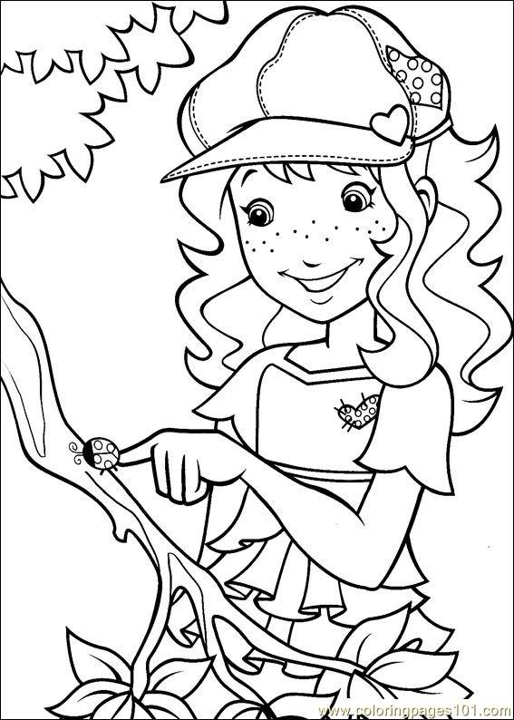 Holly hobbie 17 coloring page free holly hobbie for Holly hobbie coloring pages