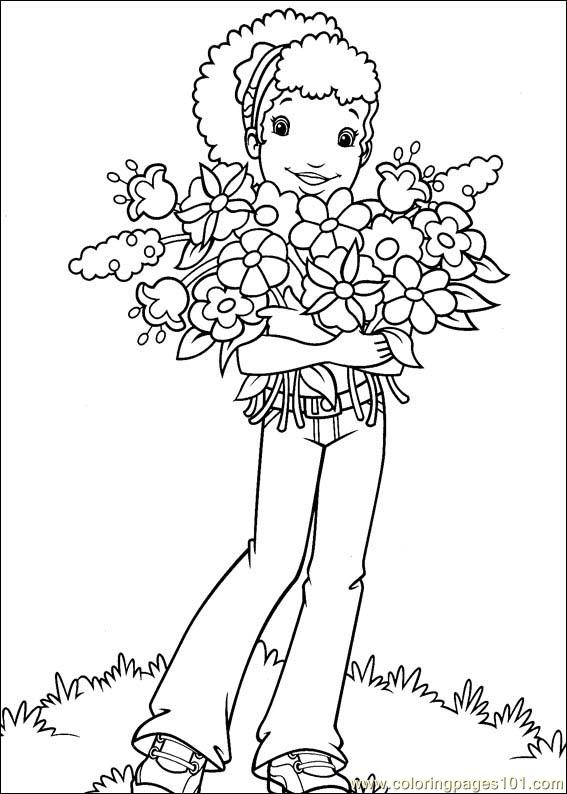 Holly Hobbie 11 Coloring Page