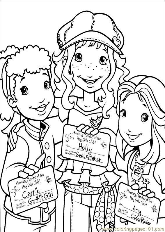 Holly Hobbie 27 Coloring Page Free Holly Hobbie Coloring
