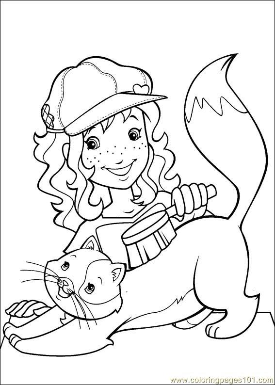 Holly hobbie 40 coloring page free holly hobbie coloring for Holly hobbie coloring pages