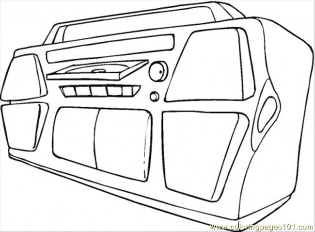 Big Sound System Coloring Page