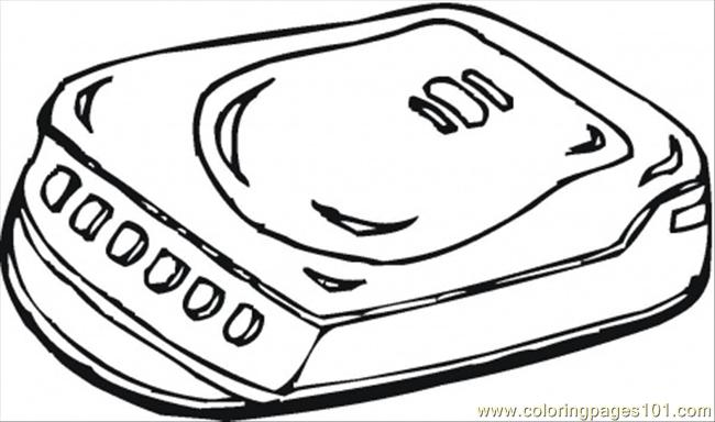 Cd Player Coloring Page Free Home Appliances Coloring