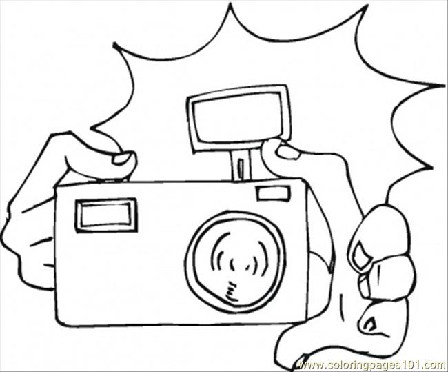 Camera coloring page