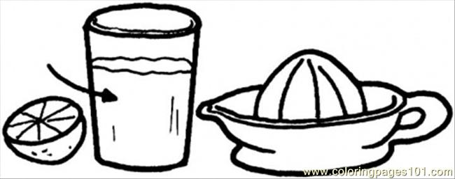 juicer for the lemons coloring page
