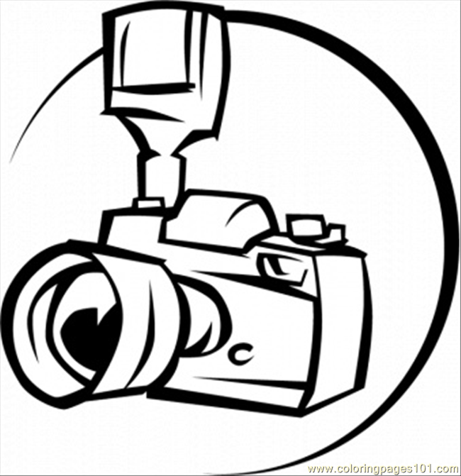 Professional Camera Coloring Page For Kids Free Home Appliances Printable Coloring Pages Online For Kids Coloringpages101 Com Coloring Pages For Kids