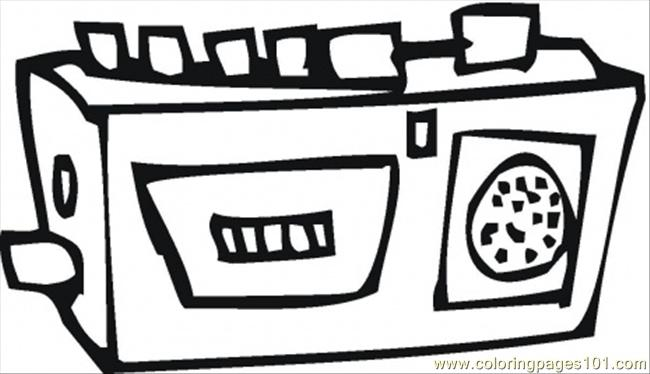 Radio Coloring Page Free Home