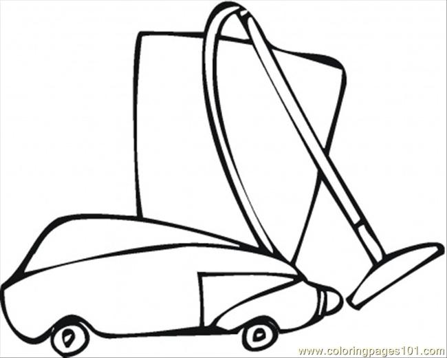 Vacuum Cleaner For The Flat Coloring Page - Free Home ... Vacuum Coloring Pages