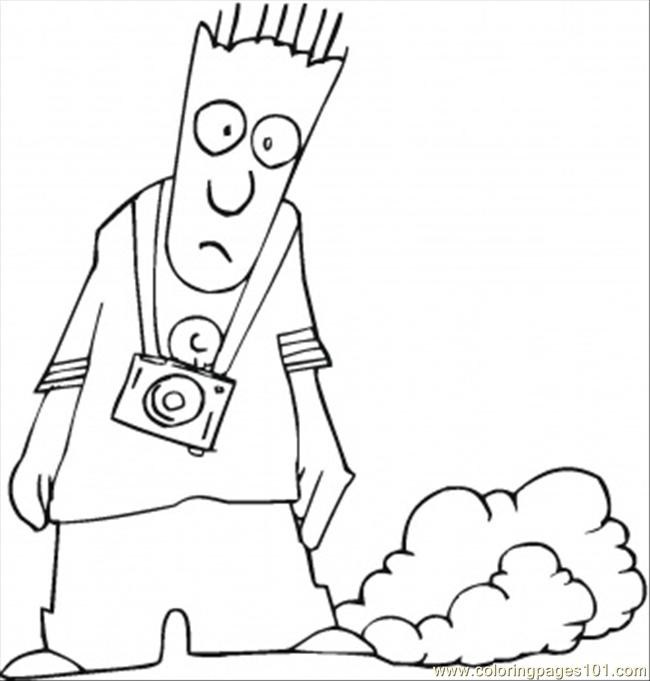 Walking With Cam Coloring Page