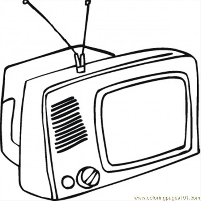 What Is On Tv Tonight Coloring Page - Free Home Appliances Coloring ...