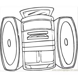 Sound System coloring page