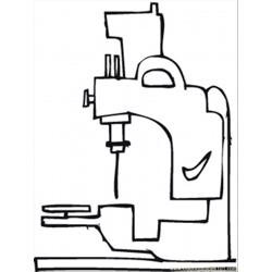 To Sew Clothes Free Coloring Page for Kids