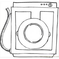 Washing Machine Free Coloring Page for Kids