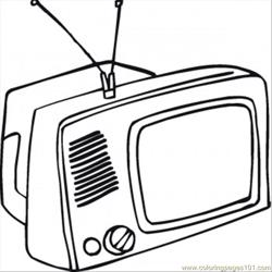 What Is On Tv Tonight Free Coloring Page for Kids