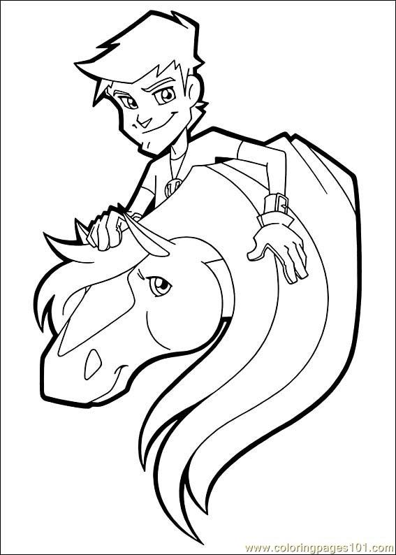 Horseland Coloring Pages Print