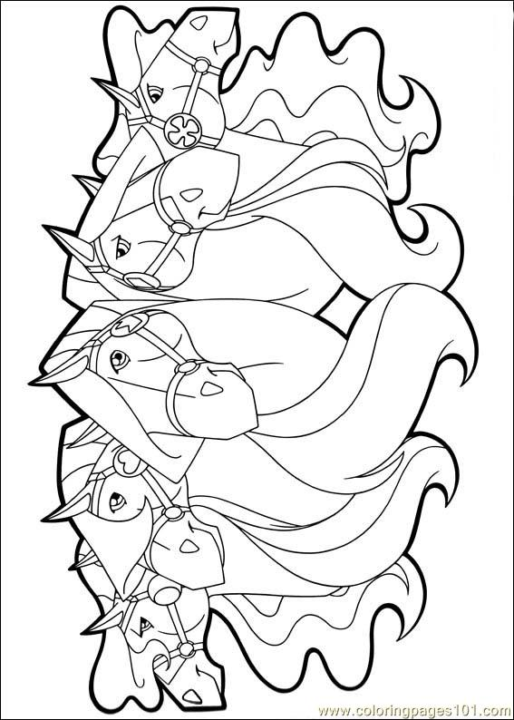 Horseland 23 Coloring Page - Free Horseland Coloring Pages ...