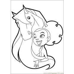 Horseland 11 coloring page