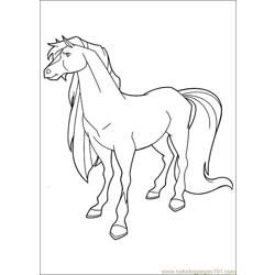 Horseland 12 Free Coloring Page for Kids