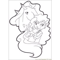Horseland 18 Free Coloring Page for Kids
