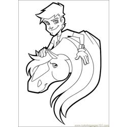 Horseland 21 Free Coloring Page for Kids